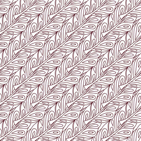 Seamless pattern with feathers in hand drawn style. Vector illustration