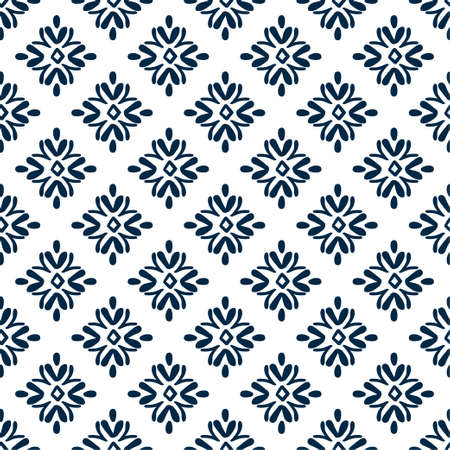 Tile traditional seamless pattern in scandinavian style. For bathroom, kitchen, swedish design. Vector illustration