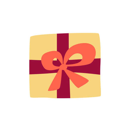 Gift icon in modern cartoon style for creative design.