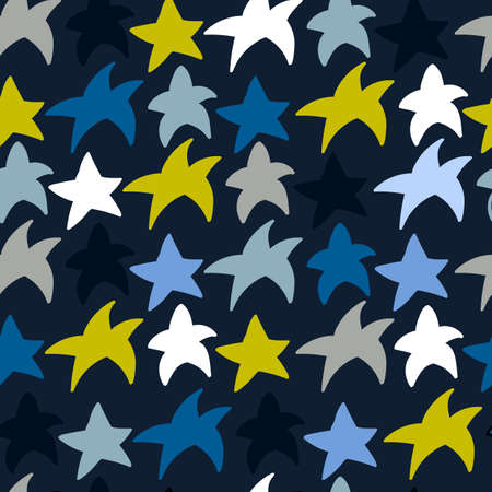 Scandinavian abstract pattern with stars for creative design - web, print, textile. Vector illustration 일러스트