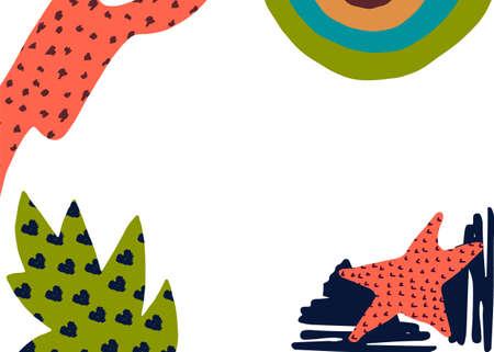 Abstract banner design for web, card, advertising. Vector illustration Ilustração