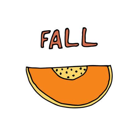 Pumpkin poster for creative design. Vector illustration