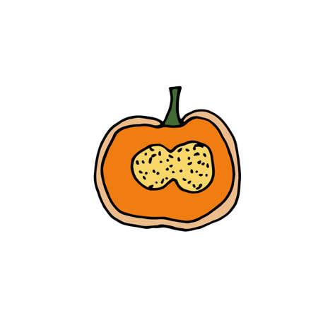 Pumpkin  icon for creative design. Vector illustration