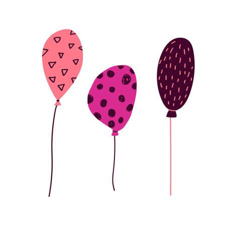 Festa Junina airballons in cartoon style - for card, invitation, holiday design. Vector illustration.