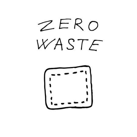 Waxed napkins for food storage - zero waste illustration. Vector illustration Ilustração