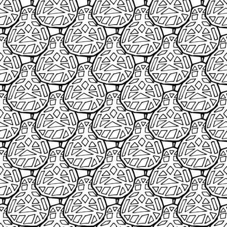 Pear fruit seamless pattern in hand drawn style. Vector illustration. Perfect for print, kitchen, textile  イラスト・ベクター素材