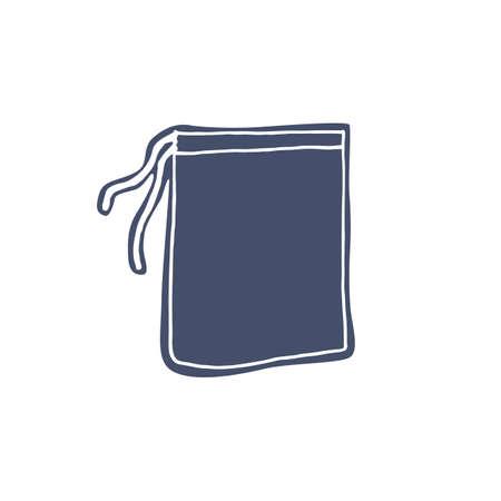 Textile eco bag for food storage - zero waste illustration. Vector illustration