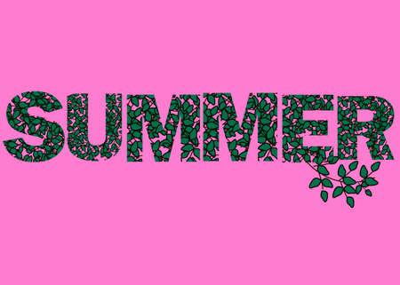 Hallo zomer illustratie, achtergrond. Stock Illustratie