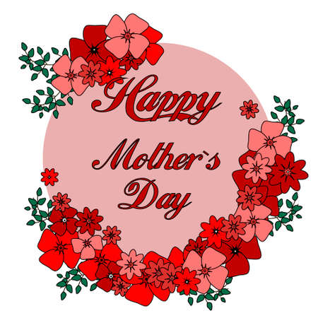 textspace: Mothers day greeting card with blossom flowers colorful Stock Photo