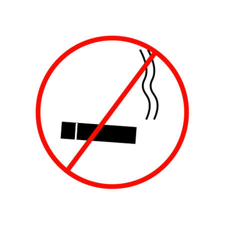 smoldering: No smoking sign on white background vector