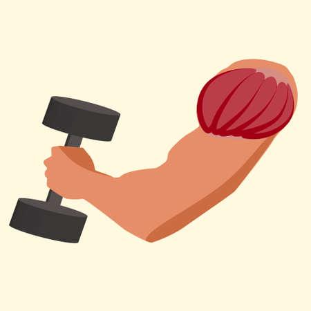 antagonistic: Antagonistic muscle biceps vector illustration gym time
