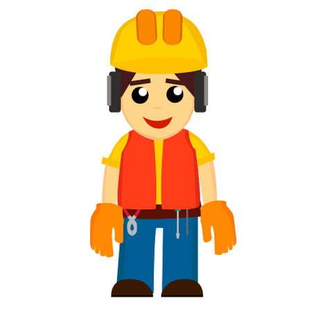 Builders icons set. In the EPS file, each element is grouped separately. Isolated on white background.