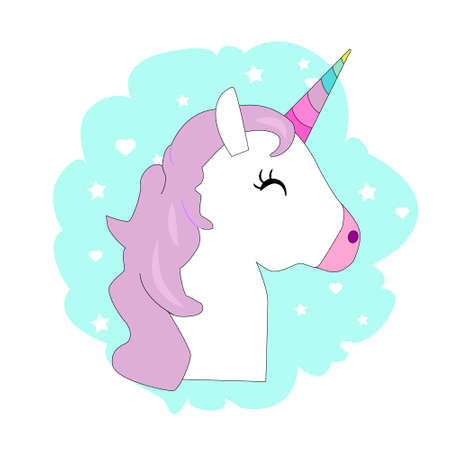cute magical unicorn,sweet kids graphics for t-shirts vector