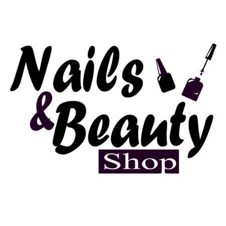manicurist: Nail studio logo vector illustration beauty concept