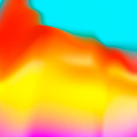 Fluid colors wallpaper. Bright colorful shapes overlap. Illustration