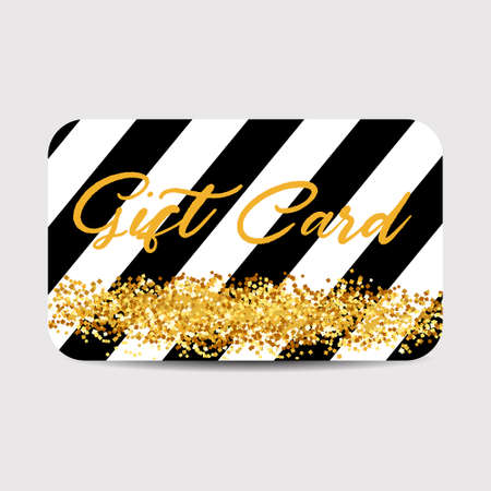 Gift Card Template with Golden Dust Texture.