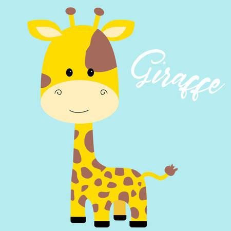 Cute giraffe isolated icon vector illustration design Illustration
