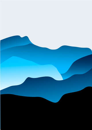 overlook: Mountains vector illustrations colorfull