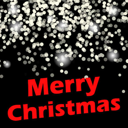 christmasbackground: Merry Christmas message and light background.