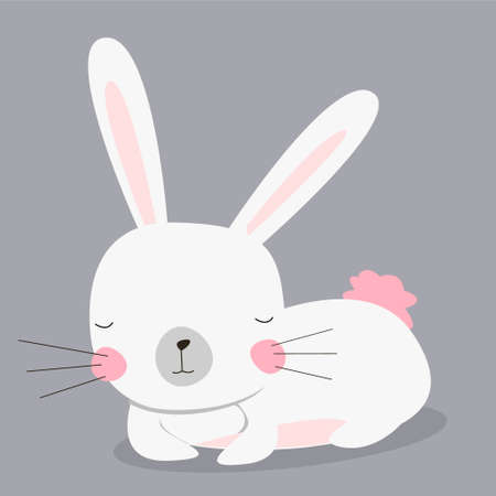 cute bunny T-shirt graphics for kids vector illustration