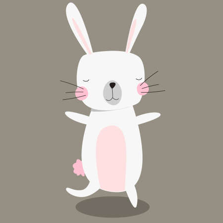 Cute bunny isolated. Happy Easter design. Vector illustration