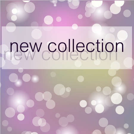 New Collection fashion header. Elegant frame with artistic brush texture in lilac color. Great for advertising, social media, web, blog, flyer, poster, placard, brochure,