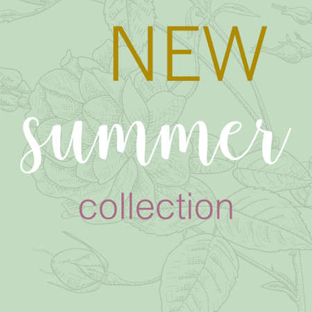 Summer fashion shopping banner template, vector illustration poster