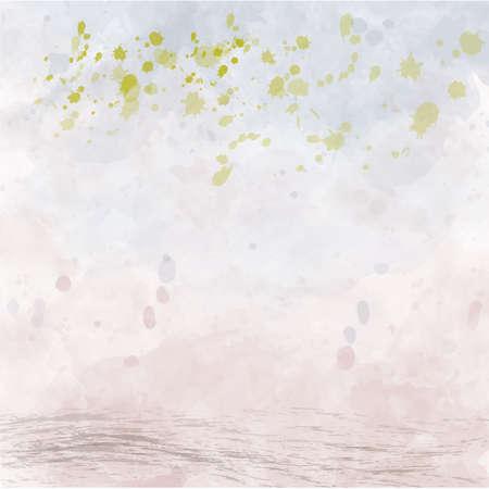 watercolor background vector illustration abstract pocter brush Illusztráció