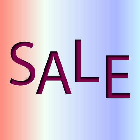 Sale Banner, End of Season, special offer, poster design template, vector illustration gradient