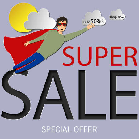 book style panel superhero tearing shirt and wearing costume vector poster illustration Standard-Bild - 104738286