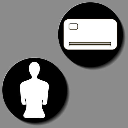 human vector icon in gray circle object illustration