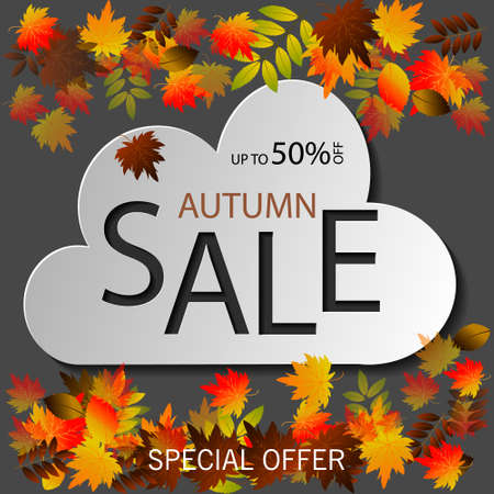 Welcome Back to School sale banners of school bag and lesson stationery for September promo offer on blackboard background. Vector school book or notebook and pencil or autumn maple