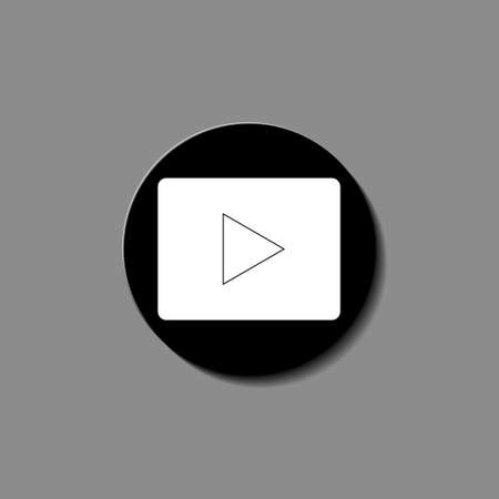 play Icon vector illustration object video web
