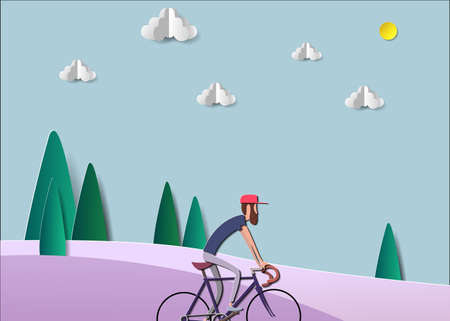 cyclist stylized vector, road cycling, cycling tour, cycling track bicycle