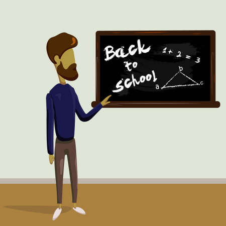 Back to school design template beard man vector