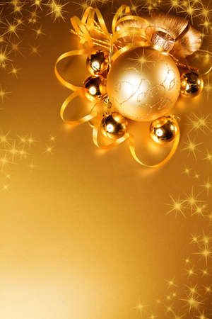 Christmas decoration. gold