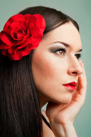 Portrait of a beautiful spanish girl Stock Photo