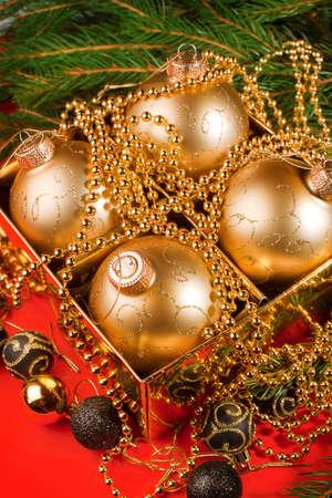 Christmas composition with Christmas decoration. Christmas