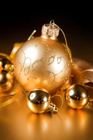 A particular of a Christmas decorations.gold Stock Photo