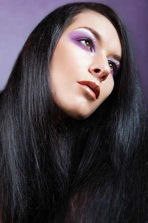 Beautiful Brunette Girl. Healthy Long Hair. Beautiful fashion hairstyle. Stock Photo - 16334009