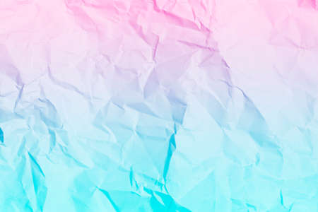 blue and pink crumpled paper background, texture for web design screensavers. Template for various purposes or creating packaging.