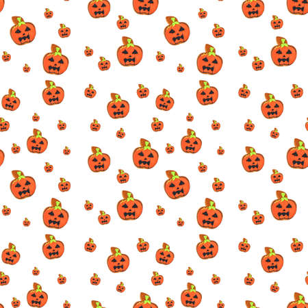 Creative pattern made of pumpkin on white background. Minimal flat lay. Halloween concept. Kho ảnh