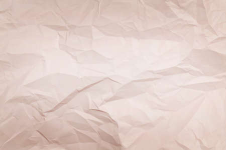 beige crumpled paper background, texture for web design screensavers. Template for various purposes. Simple Creative Creased Paper Design