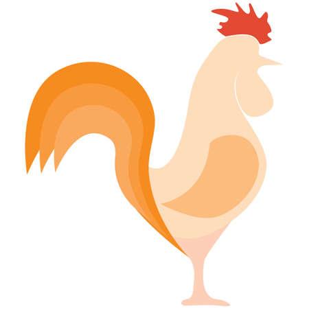 year: New Year chicken Illustration
