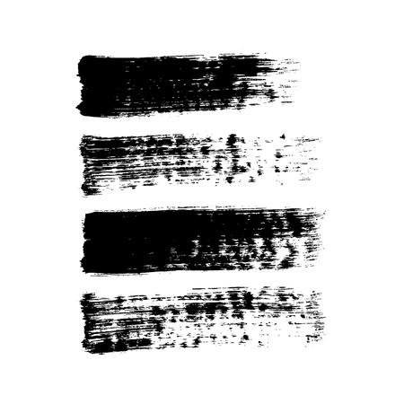 broad: Broad brush strokes. Vector set. Illustration