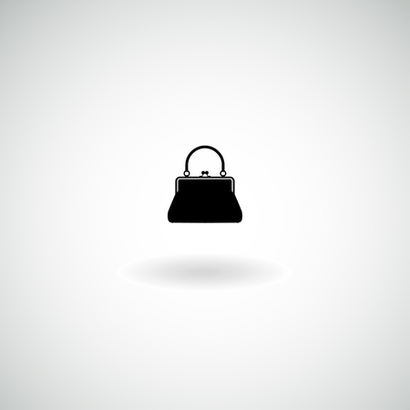 sac à main sur l'icône de la femme. Vecteur.