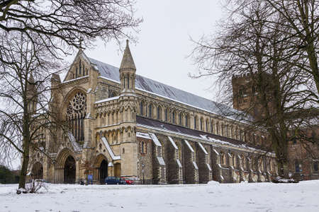 Cathedral and Abbey Church of Saint Alban in St Albans, UK photo