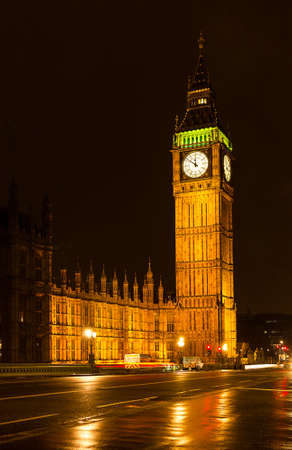 Big Ben at night, London Stock Photo