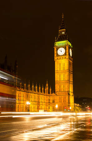 Big Ben at night, London photo