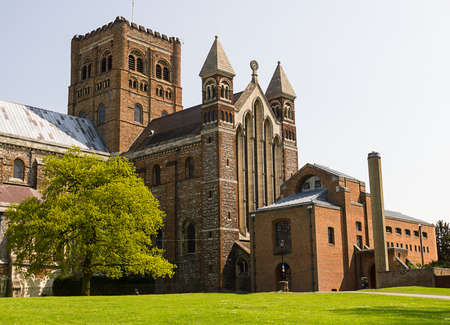 Cathedral and Abbey Church of Saint Alban in St Albans, UK Stock Photo